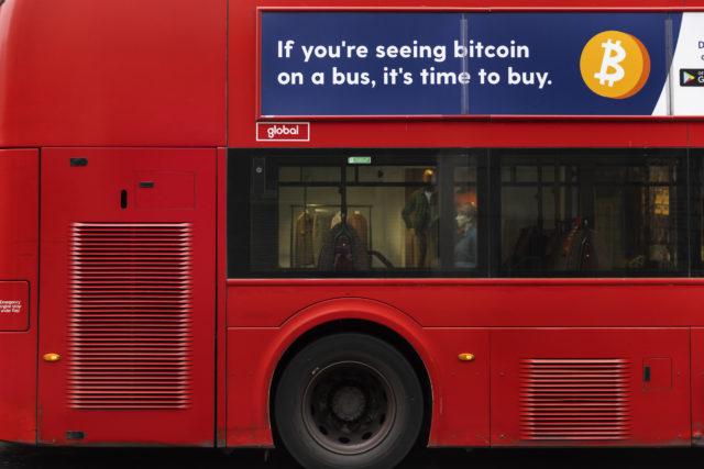 Рекламную кампанию «пришло время покупать биткоин» в Великобритании признали незаконной